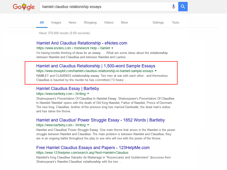 Sample SERP 2