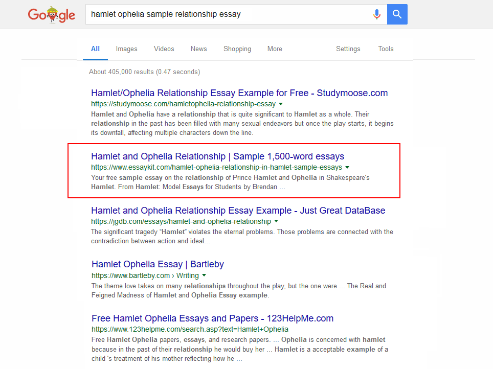 Sample SERP 3