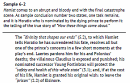 Hamlet: Model Essays for Students- Sample 3